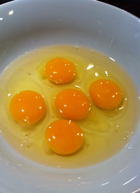 Gorgeous, rich, golden yolks